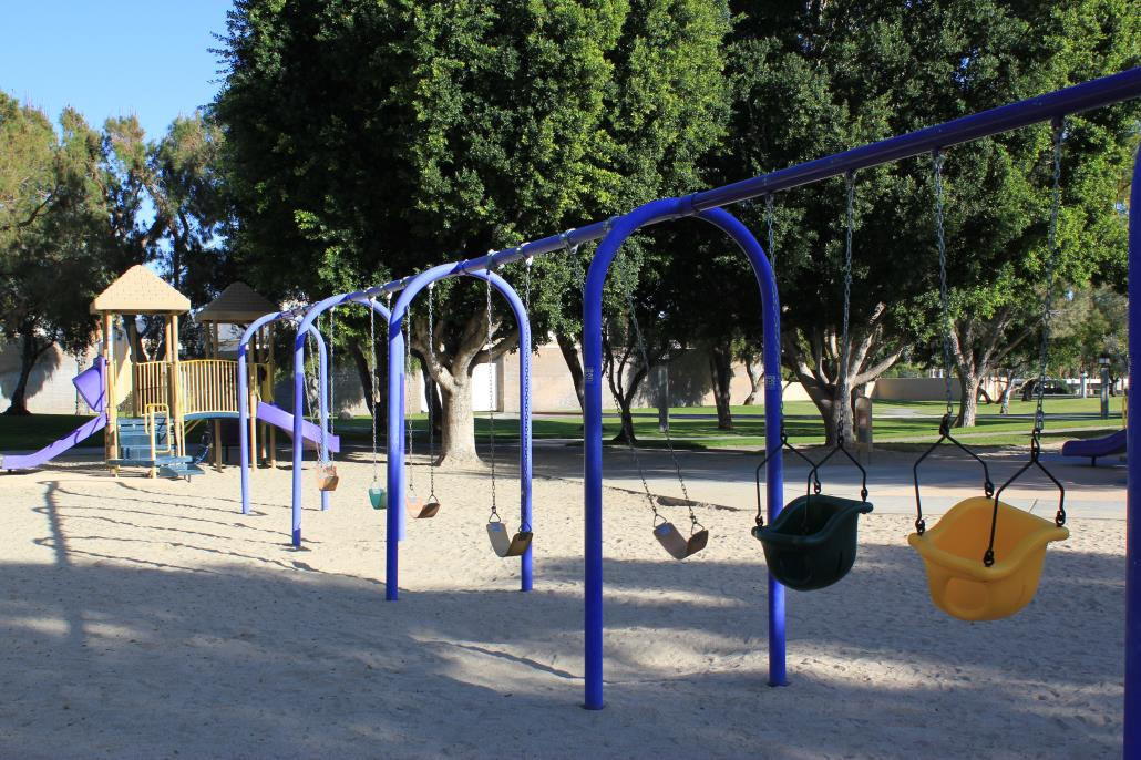picture of swings located at baristo park