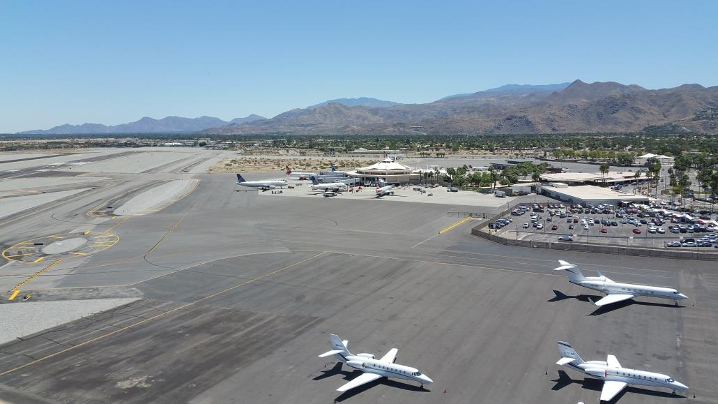 Daytime view Palm Springs Airport