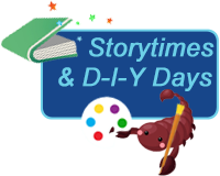 Storytimes & Crafternoons Button