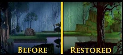 Before Restored Disney
