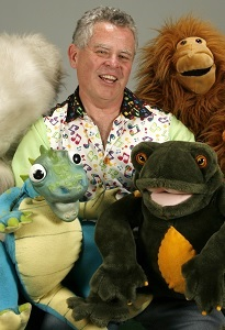 Ken Frawley with Puppets