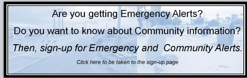 emergency alert website banner