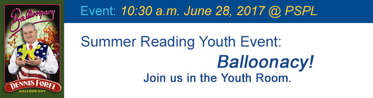 June 28 Youth Balloonacy with Dennis Forel