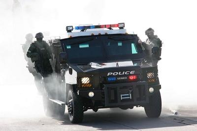 S.W.A.T. Bearcat in training exercise