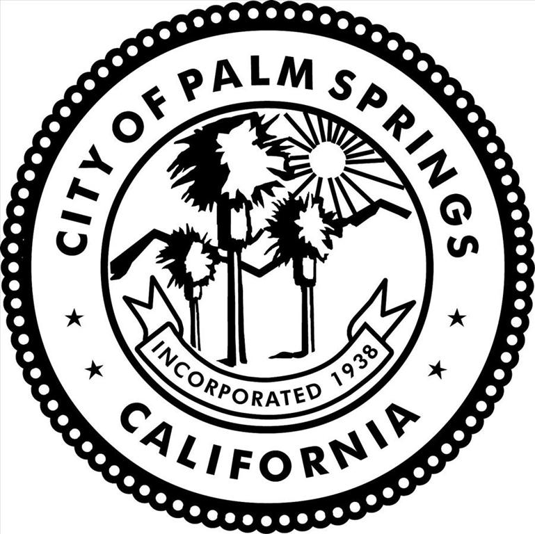 city of Palm Springs seal black large