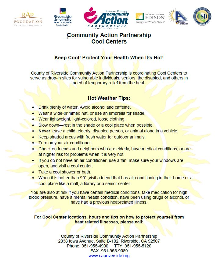Cooling centers city of palm springs cover cooling centers directory solutioingenieria Gallery