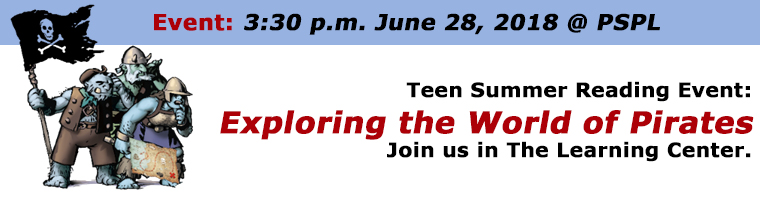 June 28 Teen Event Exploring the World of Pirates