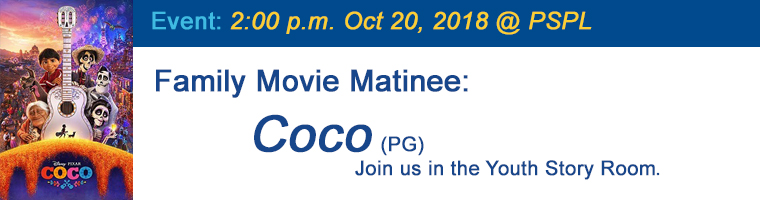 Oct 20 Family Matinee Coco