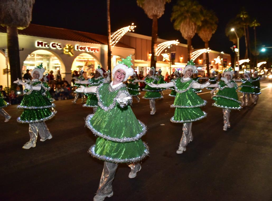 dancing girls in the light parade