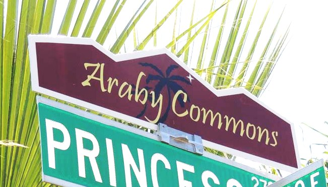 Araby Commons blade sign