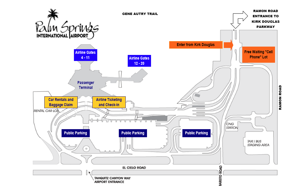 palm springs airport map Parking City Of Palm Springs palm springs airport map