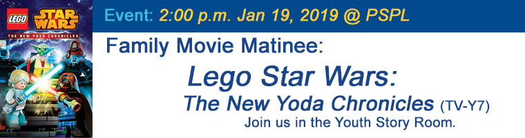 Jan 19 Family Movie Matinee Lego Star Wars