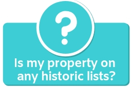 Is my property on any historic lists button