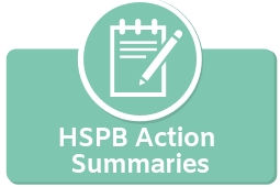 HSPB Action Summaries