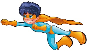 Super Boy Blue Hair