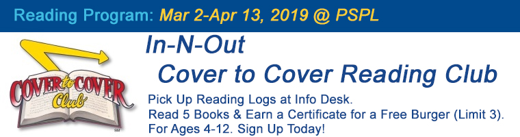 Mar 2 In-N-Out Cover to Cover Reading Program