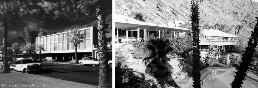 The Bank Palm Springs photograph by Julius Schulman and The Tennis Club
