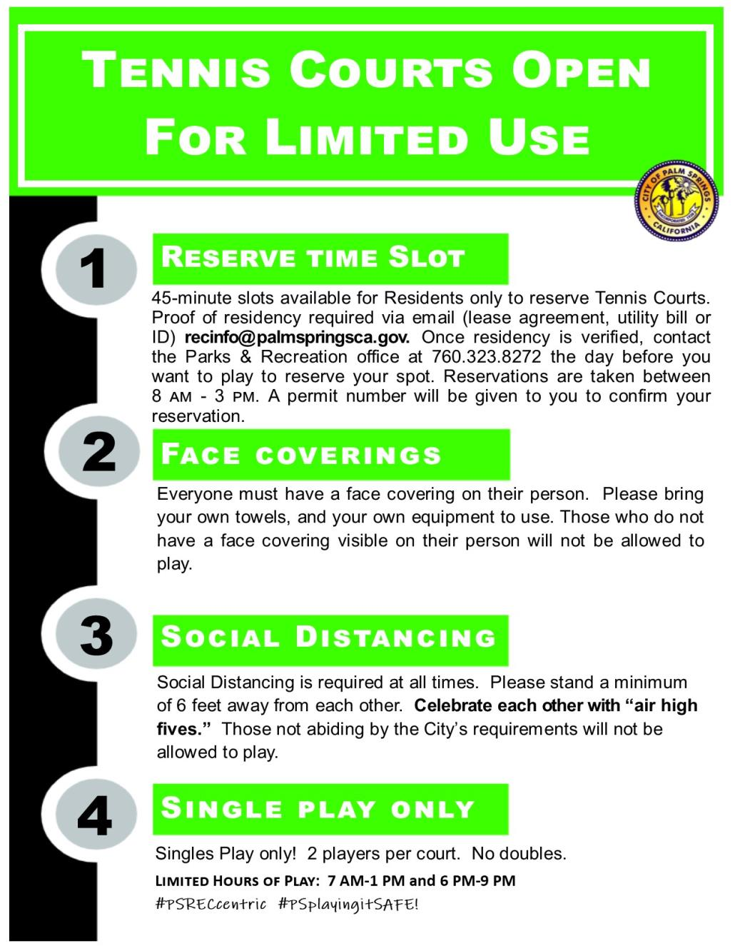Tennis guidelines