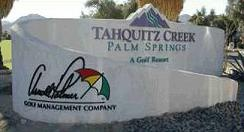 Tahquitz Creek Golf Resort sign