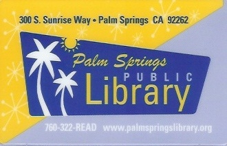 Palm Springs Library Card